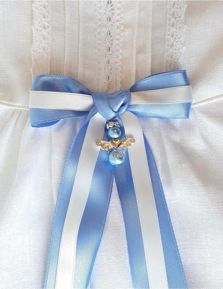 Tvåfärgad doprosett i blått