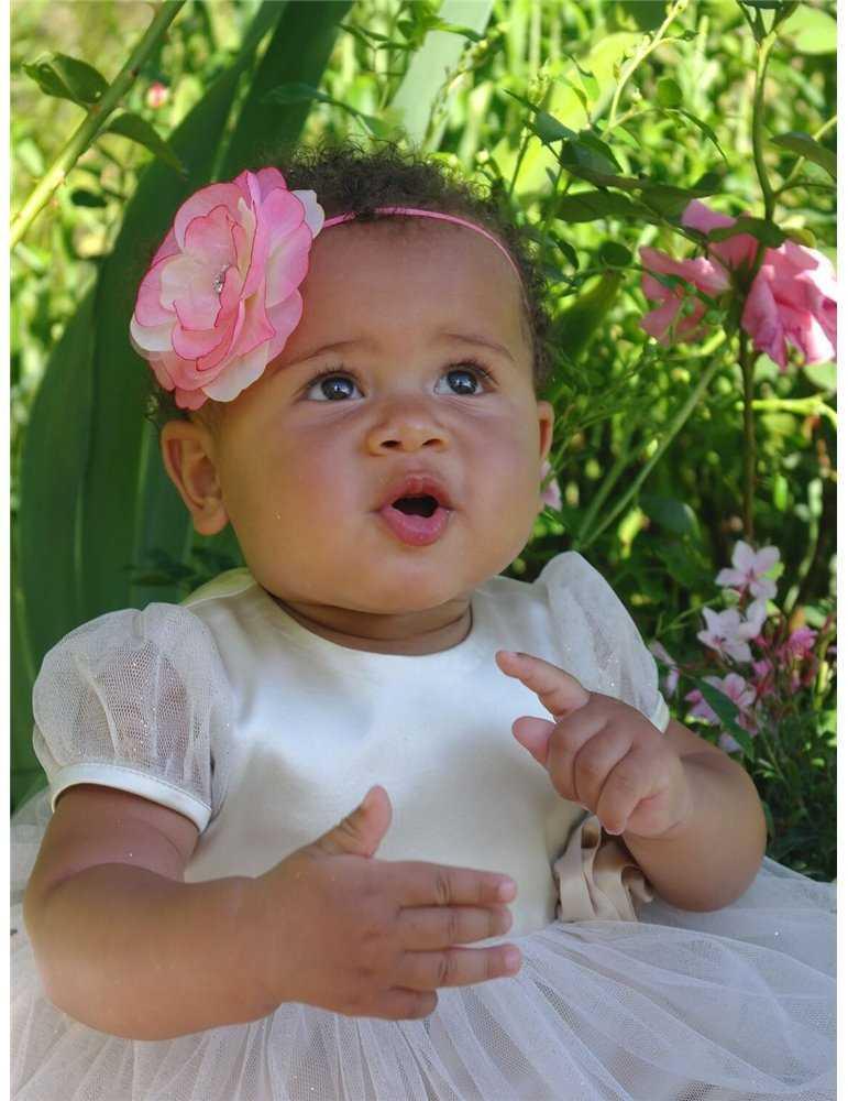 rosa Dopskor för flicka