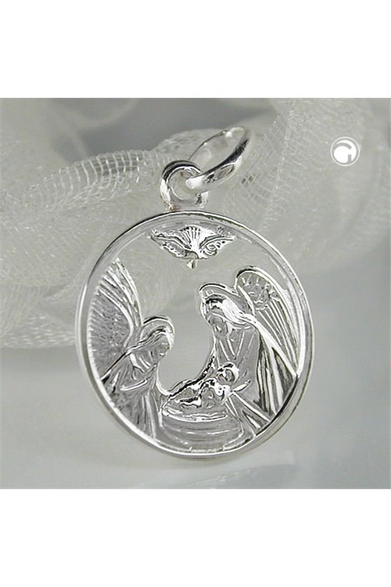PENDANT MARY AND JOSEF SILVER 925