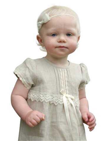 Dopklänning Grace-Estelle Vit