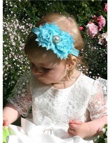 Dophätta Grace-Madde i off white satin