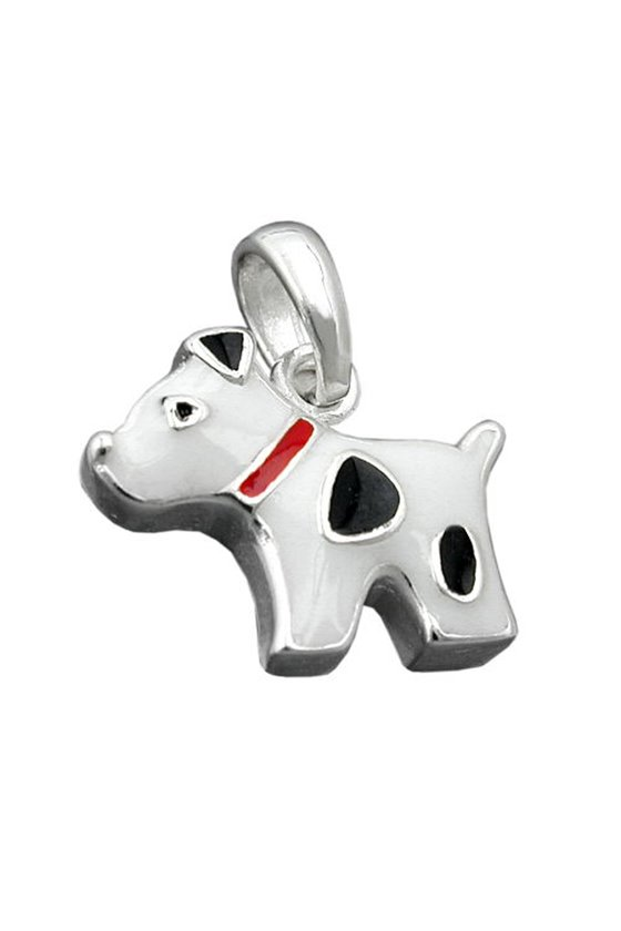 PENDANT DOG WITH DOTS SILVER 925