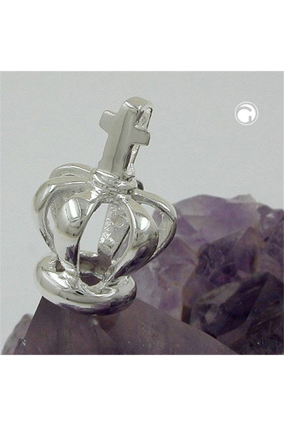 PENDANT CROWN WITH CROSS SILVER 925