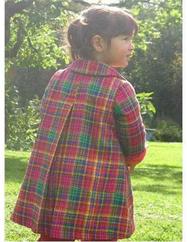 Ljusblå snuttefilt med napphållare och namnbroderi