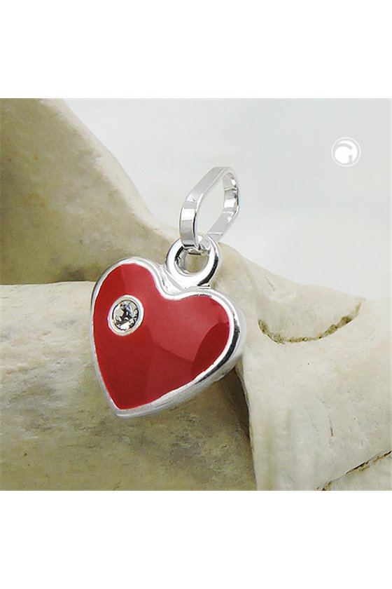 PENDANT RED HEART SILVER 925