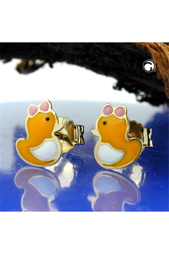 EARRINGS DUCK 9K GOLD