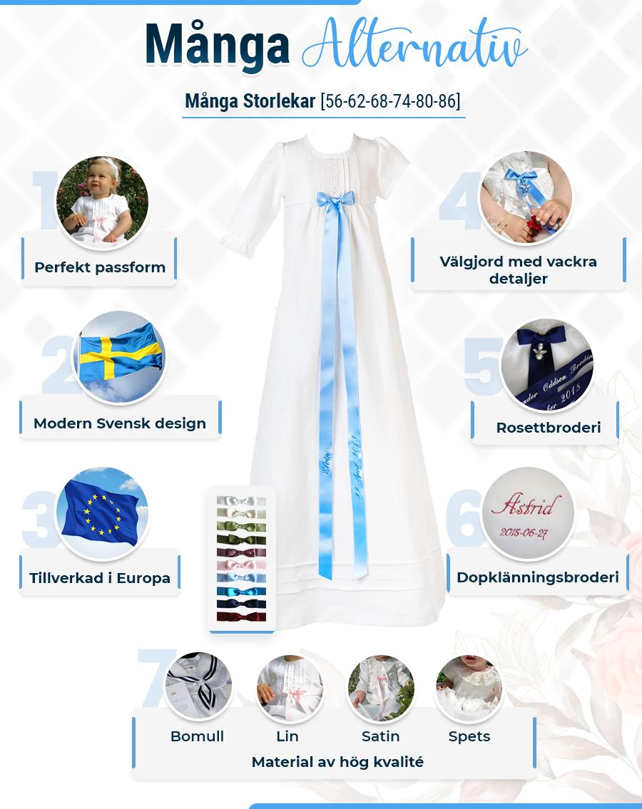Dopklänning Grace-Överklänning i spets