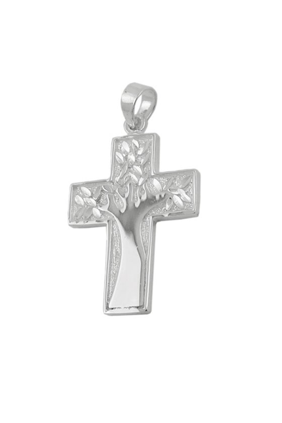 PENDANT CROSS WITH TREE SILVER 925