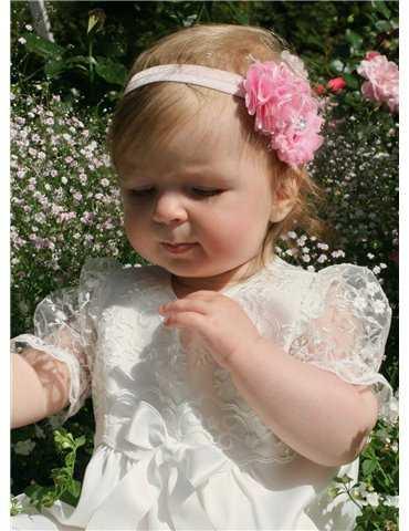 Diadem med rosa rosor