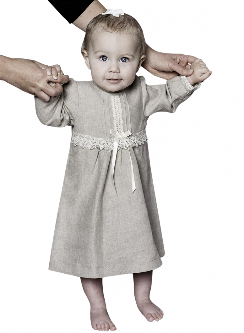 Special occasions linen with long sleeves and bow