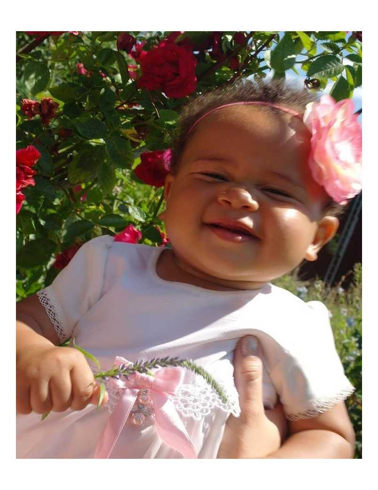 Diadem med vacker ros till baby